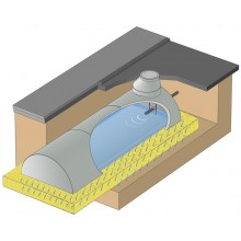 Sickertunnel aus Beton 11800 Liter