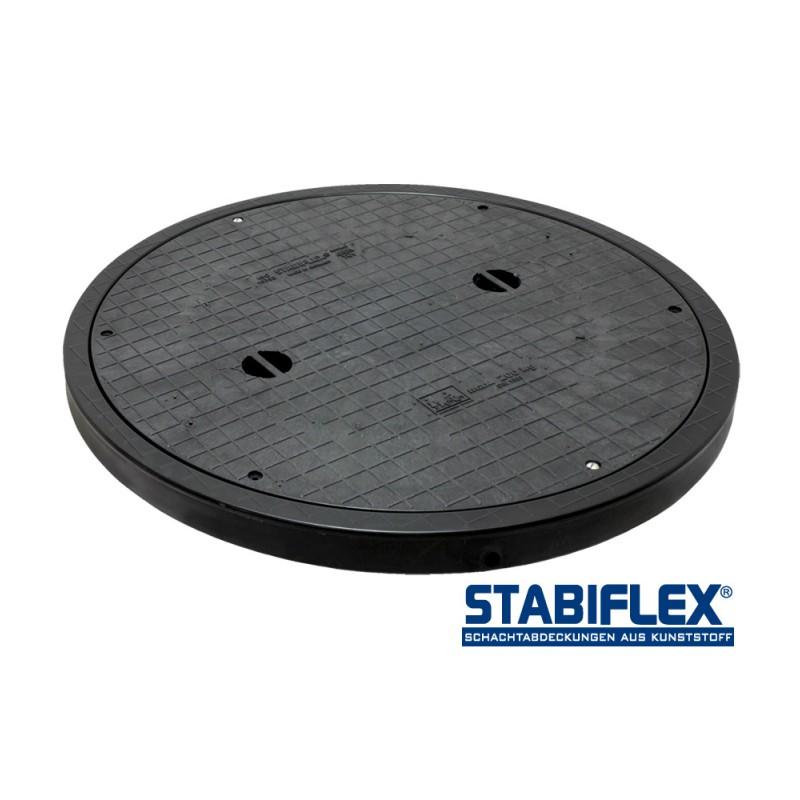 Stabiflex schachtabdeckung basic xxl mit blockrahmen for Deckel revisionsschacht