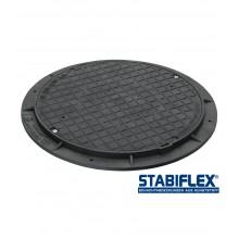 Schachtabdeckung Stabiflex mit Flanschrahmen ohne Griffmulden