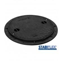 Schachtabdeckung Stabiflex mit Flanschrahmen mit Griffmulden